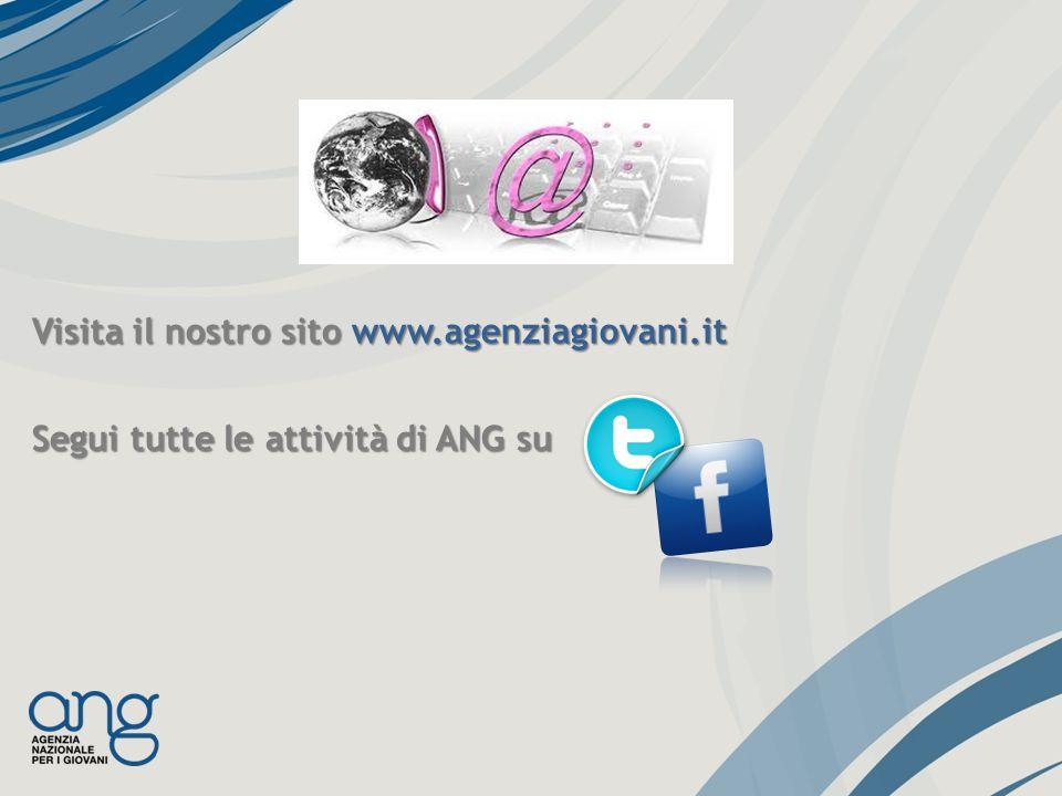Visita il nostro sito www.agenziagiovani.it Segui tutte le attività di ANG su