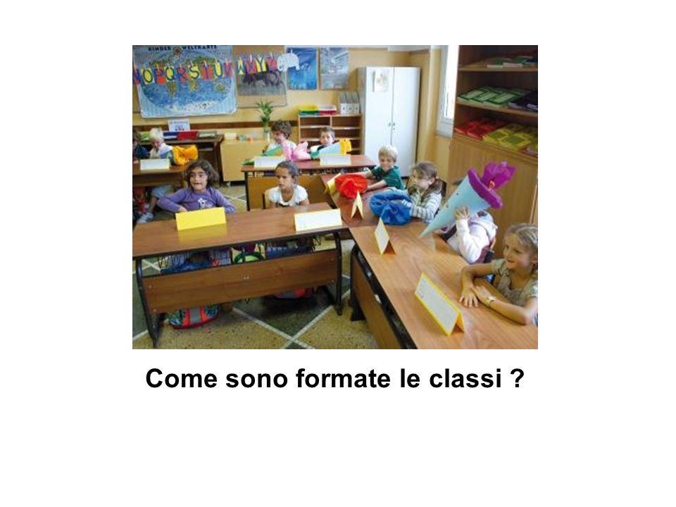 Come sono formate le classi ?