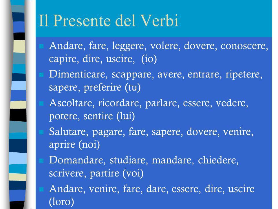 Le Preposizioni n Vado ____ Italia (Stati Uniti-ufficio, centro, banca) n Abita _____Roma (Venezia, Ravenna) n Va ______medico (professoressa, avvocat