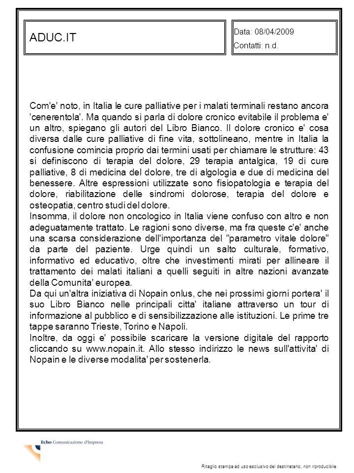 ADUC.IT Data: 08/04/2009 Contatti: n.d.