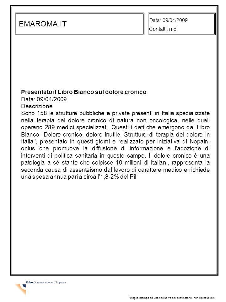 EMAROMA.IT Data: 09/04/2009 Contatti: n.d.
