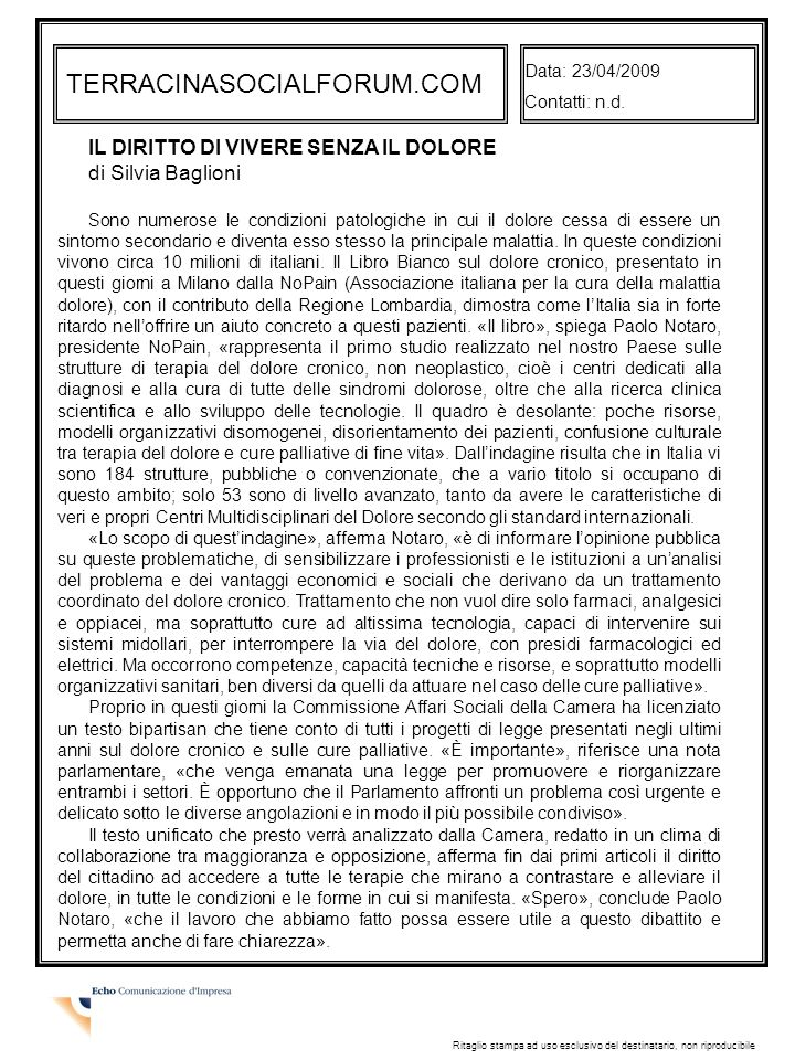 TERRACINASOCIALFORUM.COM Data: 23/04/2009 Contatti: n.d.