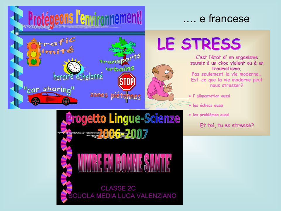 …. e francese