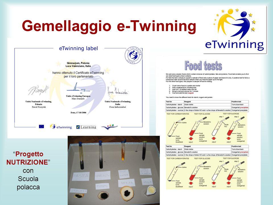 Gemellaggio e-Twinning m Progetto NUTRIZIONE con Scuola polacca