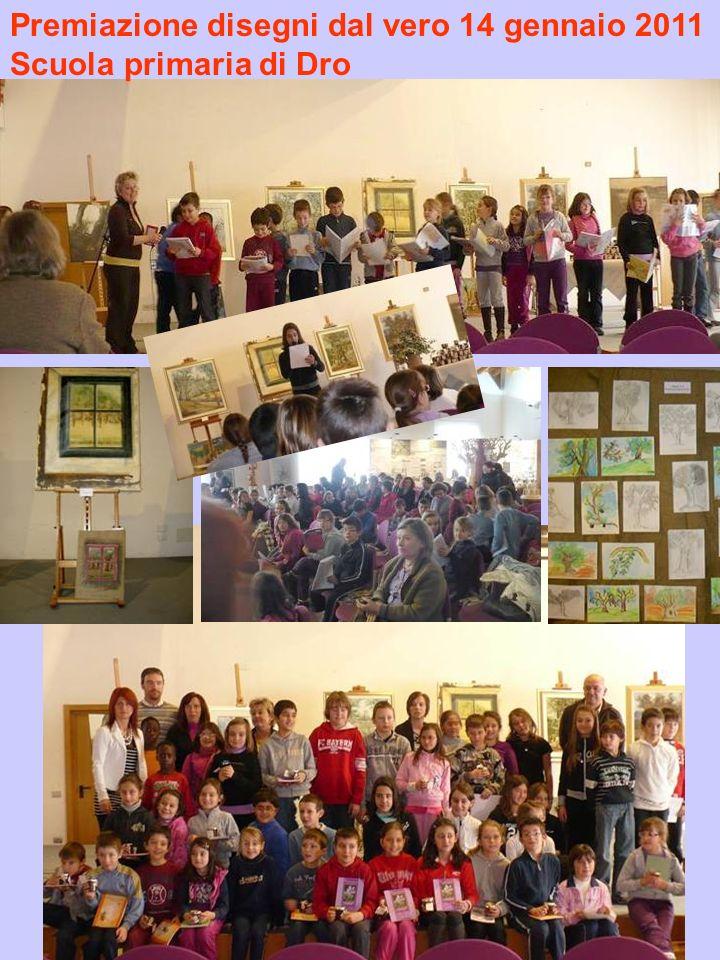 Premiazione disegni dal vero 14 gennaio 2011 Scuola primaria di Dro