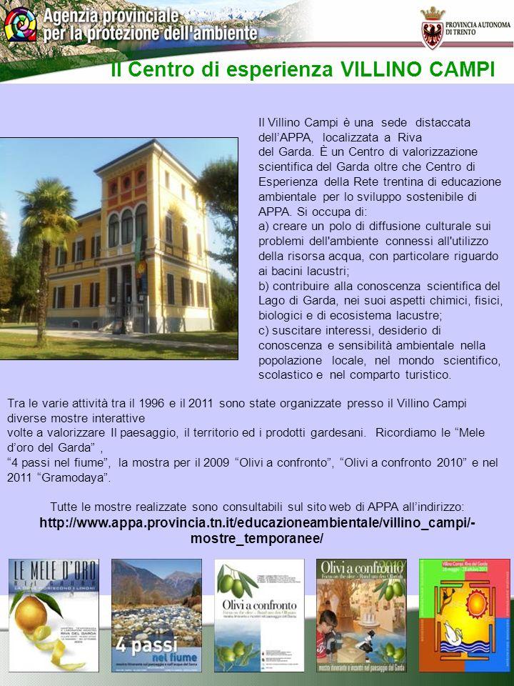 Il Centro di esperienza VILLINO CAMPI Il Villino Campi è una sede distaccata dellAPPA, localizzata a Riva del Garda.