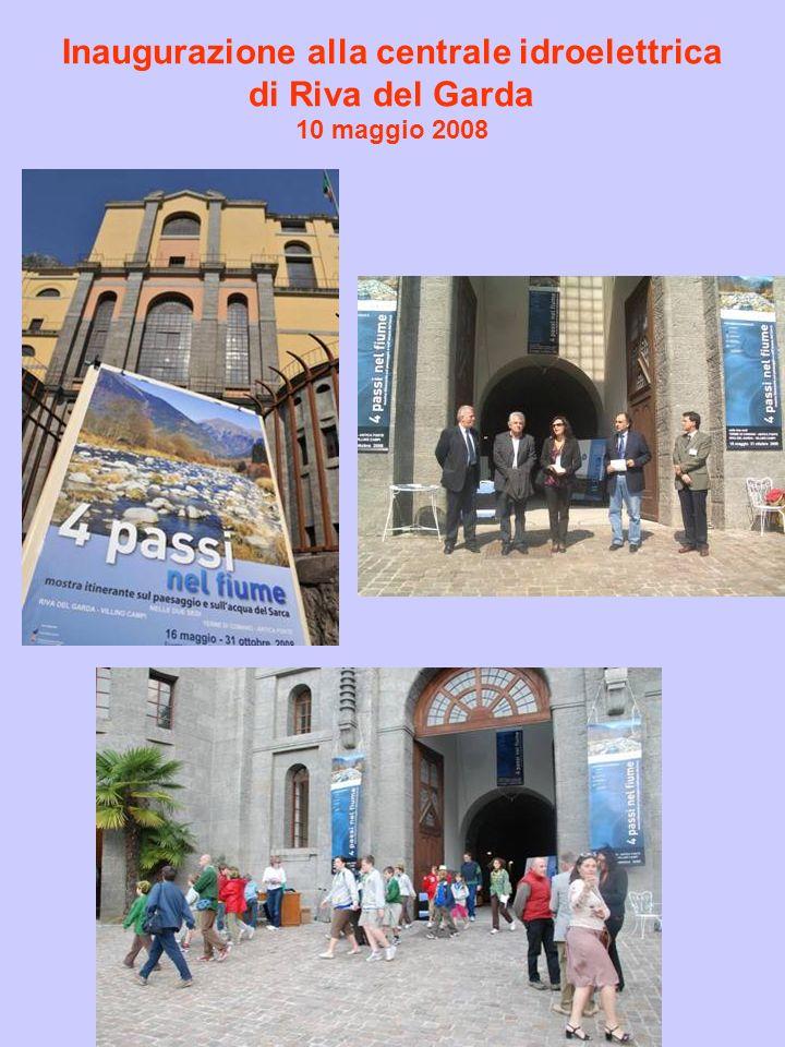 Inaugurazione alla centrale idroelettrica di Riva del Garda 10 maggio 2008