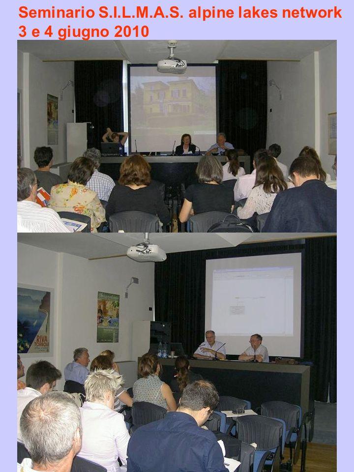 Seminario S.I.L.M.A.S. alpine lakes network 3 e 4 giugno 2010