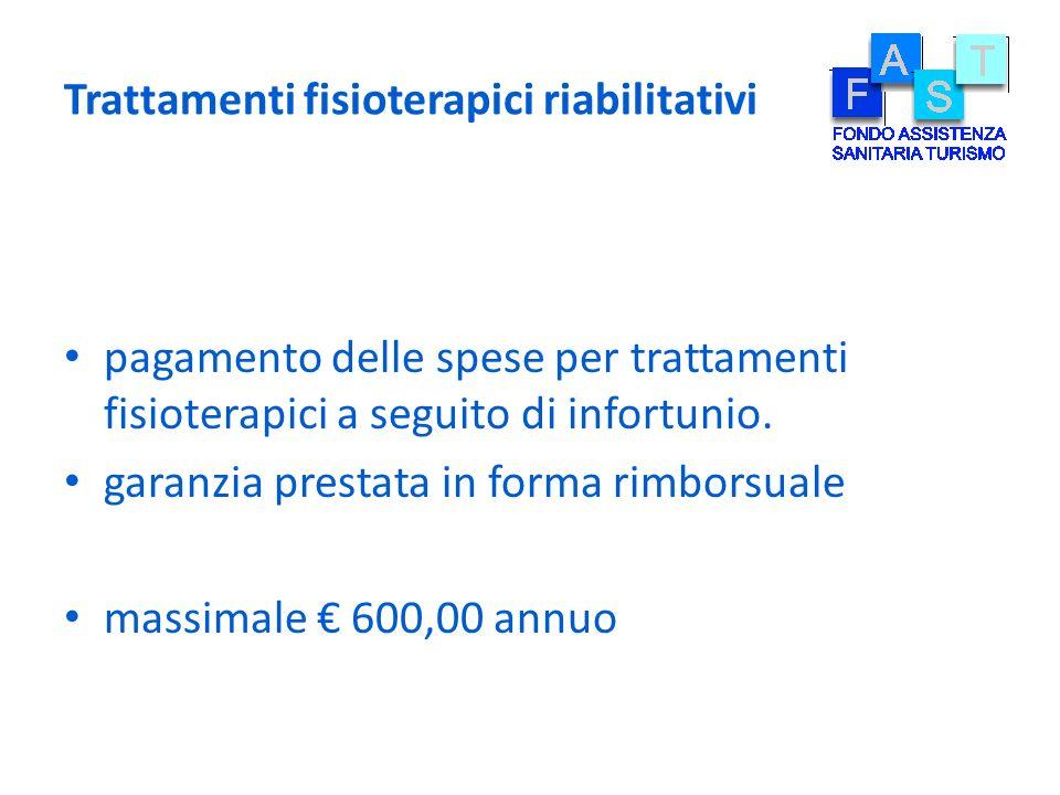 Trattamenti fisioterapici riabilitativi pagamento delle spese per trattamenti fisioterapici a seguito di infortunio. garanzia prestata in forma rimbor