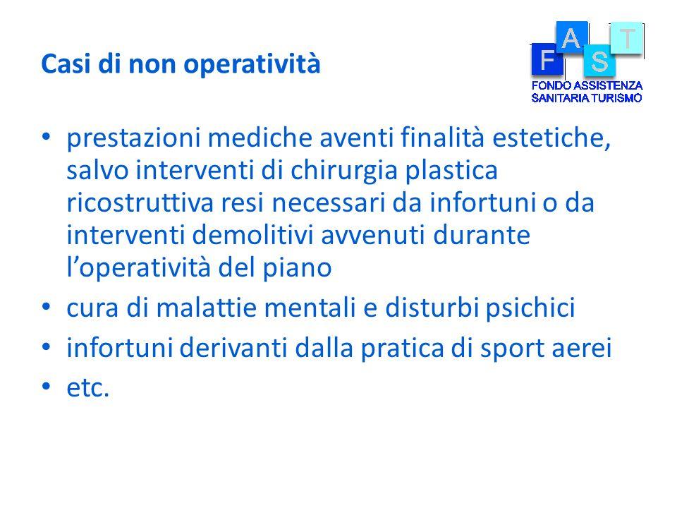 Casi di non operatività prestazioni mediche aventi finalità estetiche, salvo interventi di chirurgia plastica ricostruttiva resi necessari da infortun