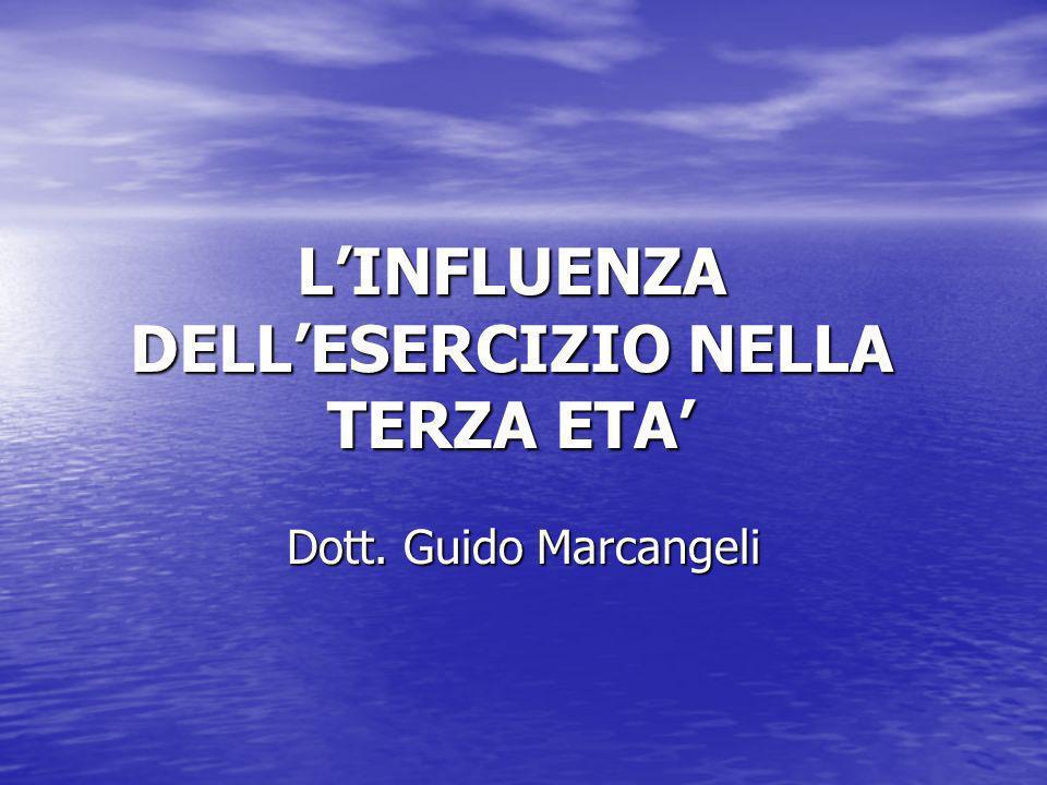 LINFLUENZA DELLESERCIZIO NELLA TERZA ETA Dott. Guido Marcangeli