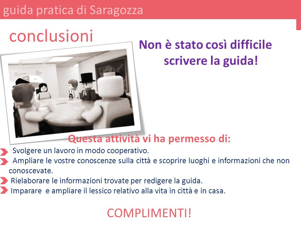 guida pratica di Saragozza conclusioni Non è stato così difficile scrivere la guida.
