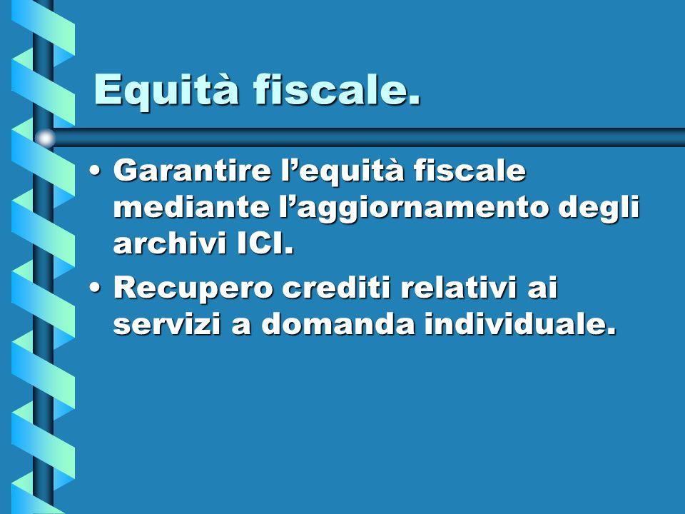 Equità fiscale.