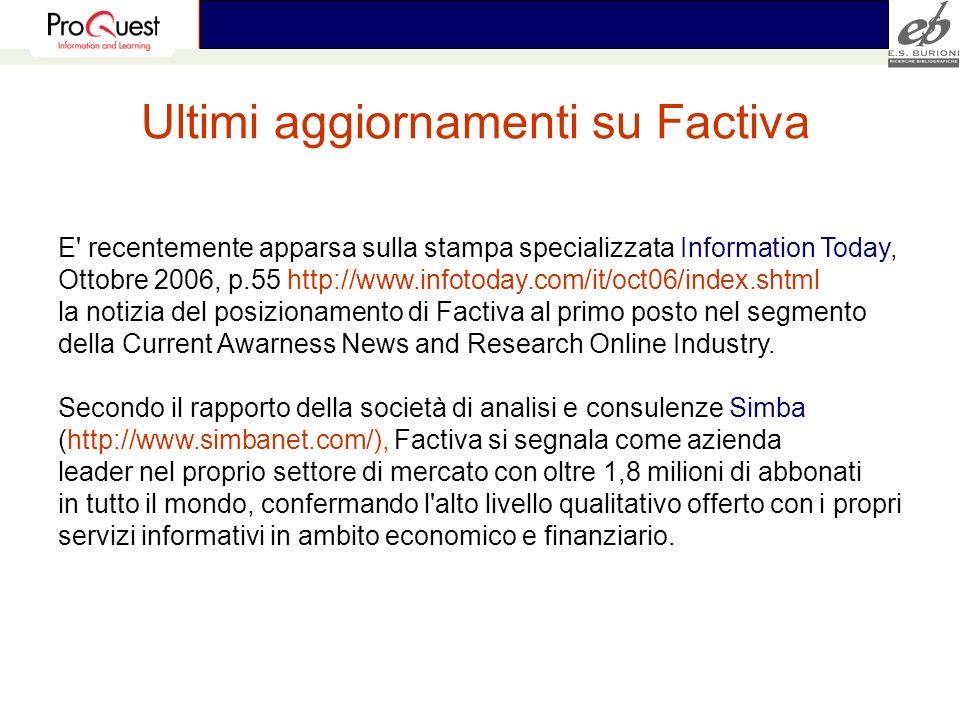 E' recentemente apparsa sulla stampa specializzata Information Today, Ottobre 2006, p.55 http://www.infotoday.com/it/oct06/index.shtml la notizia del