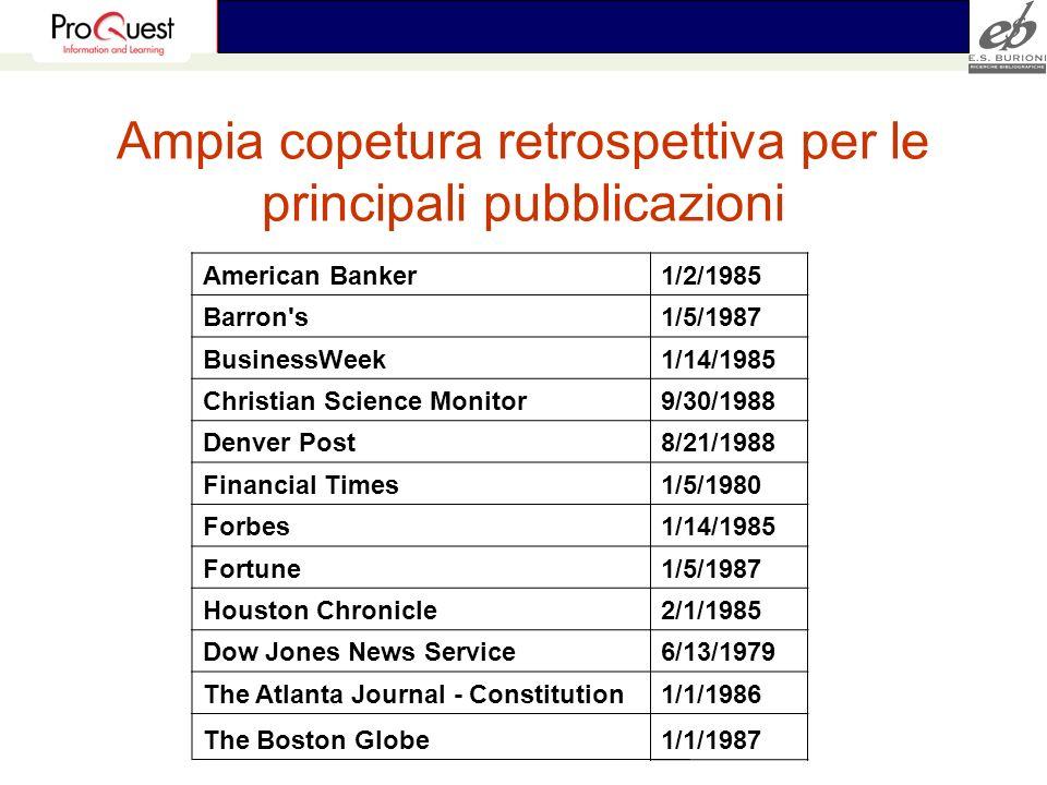 Ampia copetura retrospettiva per le principali pubblicazioni American Banker1/2/1985 Barron's1/5/1987 BusinessWeek1/14/1985 Christian Science Monitor9