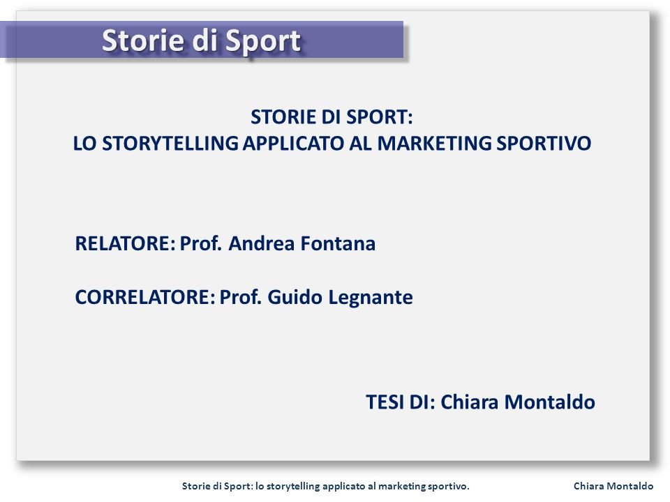 Storie di Sport: lo storytelling applicato al marketing sportivo.