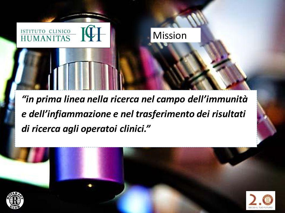 in prima linea nella ricerca nel campo dellimmunità e dellinfiammazione e nel trasferimento dei risultati di ricerca agli operatoi clinici.