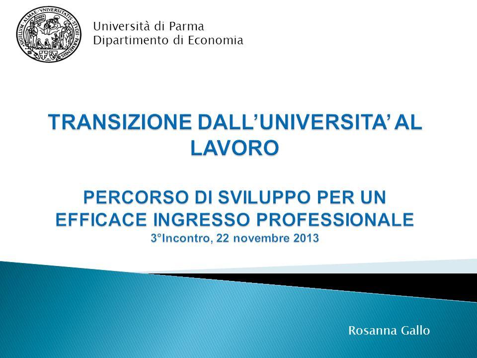 Università di Parma Dipartimento di Economia Rosanna Gallo