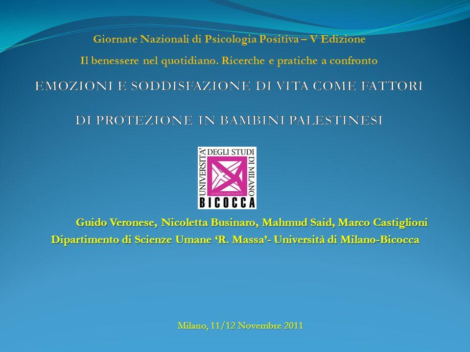 Guido Veronese, Nicoletta Businaro, Mahmud Said, Marco Castiglioni Dipartimento di Scienze Umane R.