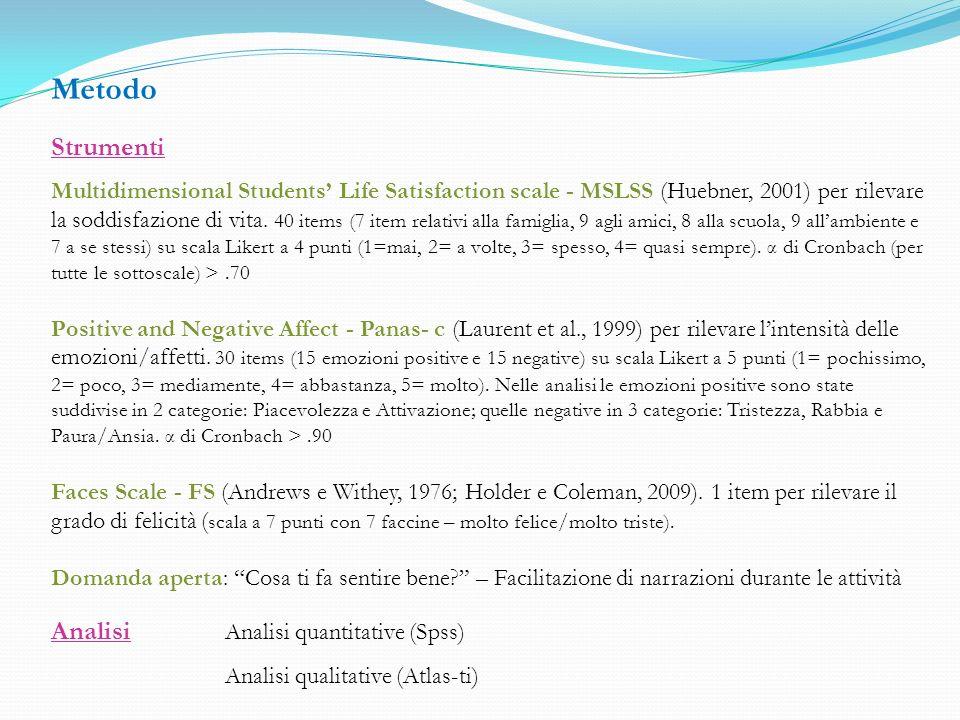 Ricerca condotta in accordo con le Linee Guida della Commissione Etica dellUniversità di Milano-Bicocca e approvata dalla Commissione Etica del MIUR.
