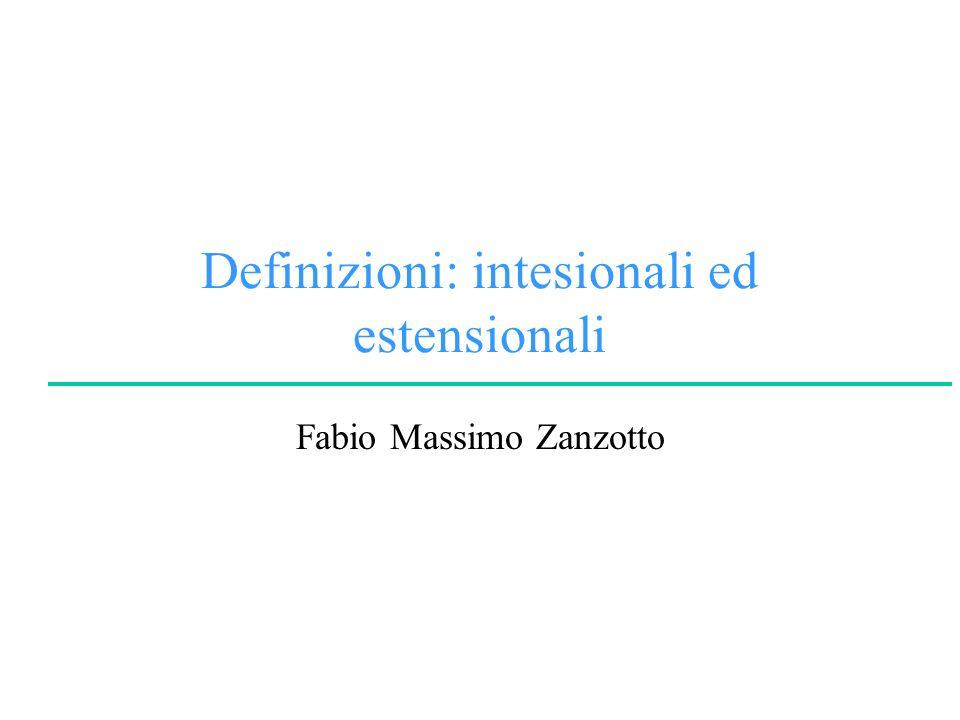 Definizioni: intesionali ed estensionali Fabio Massimo Zanzotto