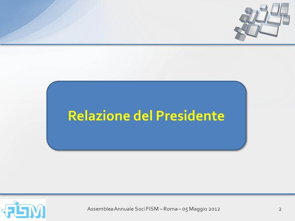 Assemblea Annuale Soci FISM – Roma – 05 Maggio 201213 Griglia dei pre-requisiti Torna