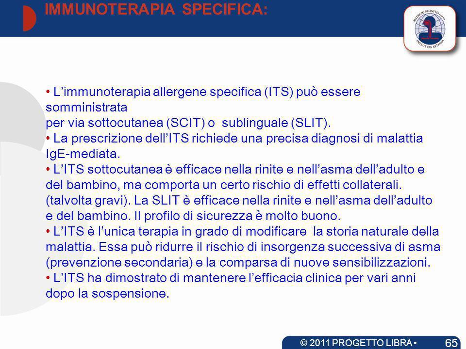 Limmunoterapia allergene specifica (ITS) può essere somministrata per via sottocutanea (SCIT) o sublinguale (SLIT). La prescrizione dellITS richiede u