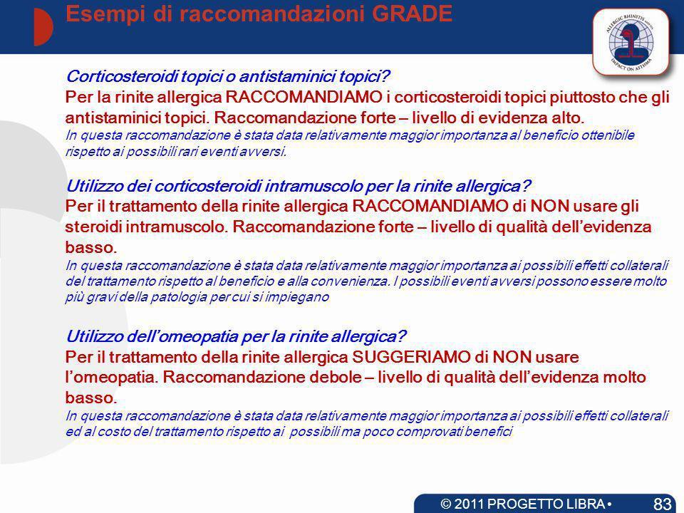 Corticosteroidi topici o antistaminici topici? Per la rinite allergica RACCOMANDIAMO i corticosteroidi topici piuttosto che gli antistaminici topici.
