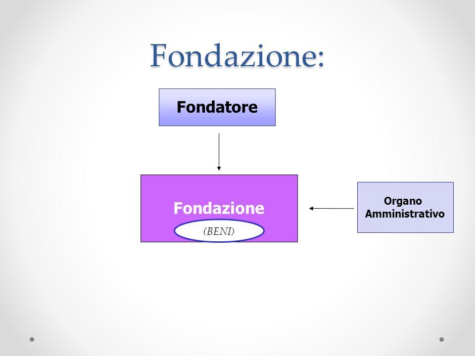 Fondazione: Fondazione (BENI) Fondatore Organo Amministrativo