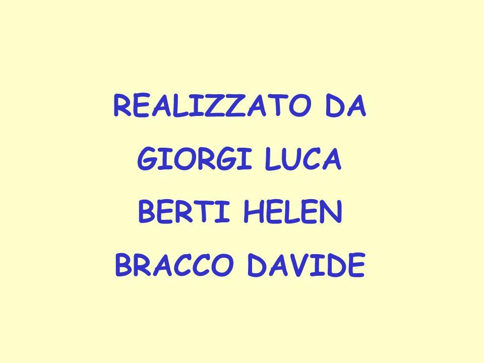 REALIZZATO DA GIORGI LUCA BERTI HELEN BRACCO DAVIDE