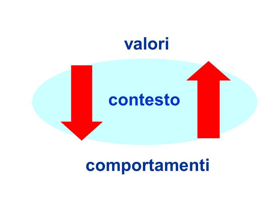 contesto valori comportamenti