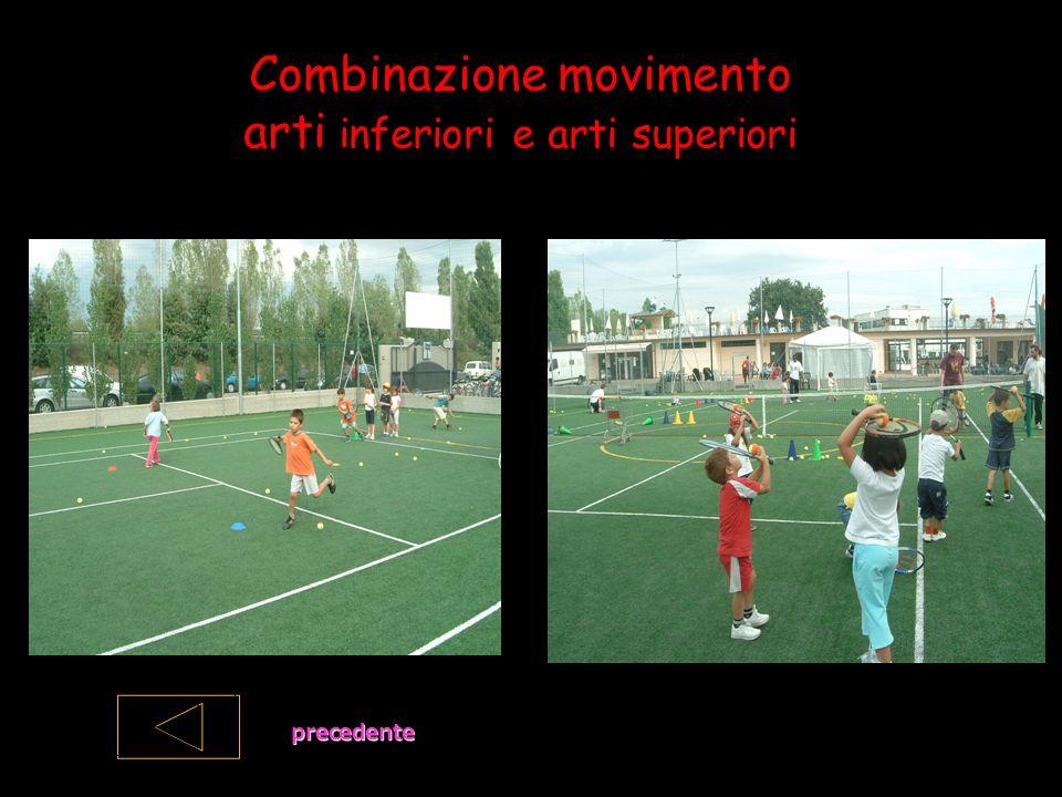 Combinazione movimento arti inferiori e arti superiori precedente