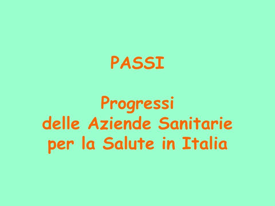PASSI Progressi delle Aziende Sanitarie per la Salute in Italia