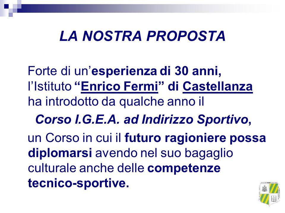 LA NOSTRA PROPOSTA Forte di unesperienza di 30 anni, lIstituto Enrico Fermi di Castellanza ha introdotto da qualche anno il Corso I.G.E.A. ad Indirizz