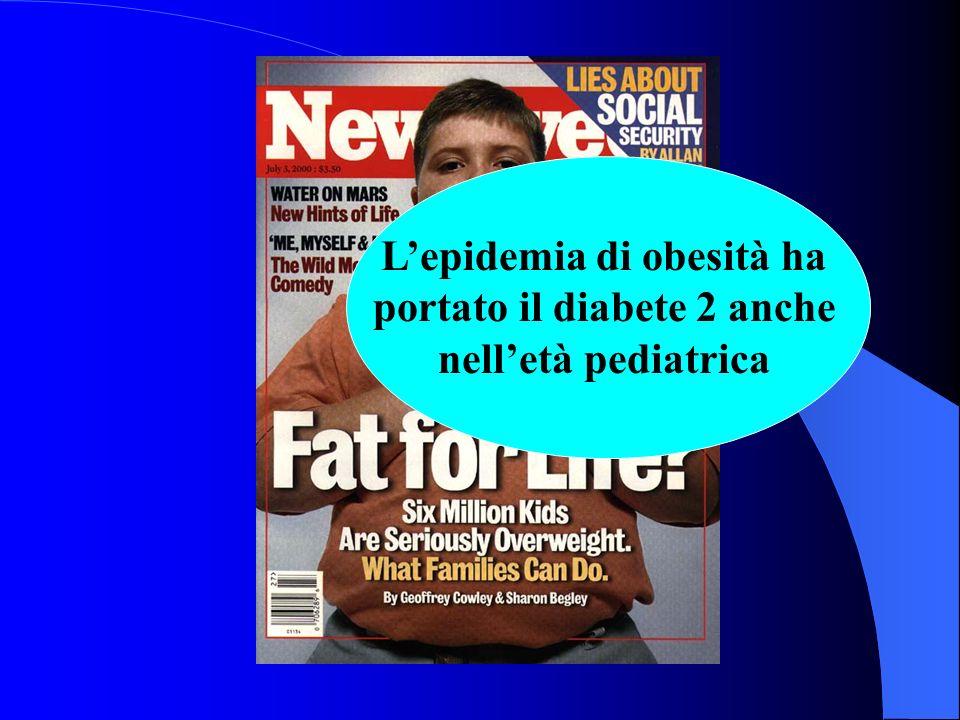 Lepidemia di obesità ha portato il diabete 2 anche nelletà pediatrica