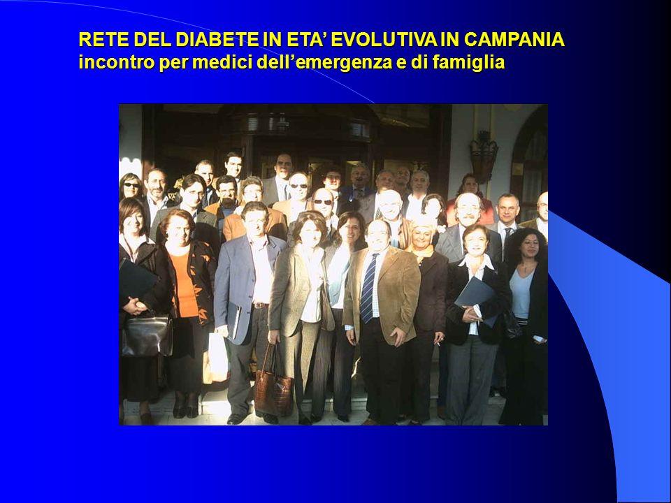 RETE DEL DIABETE IN ETA EVOLUTIVA IN CAMPANIA incontro per medici dellemergenza e di famiglia
