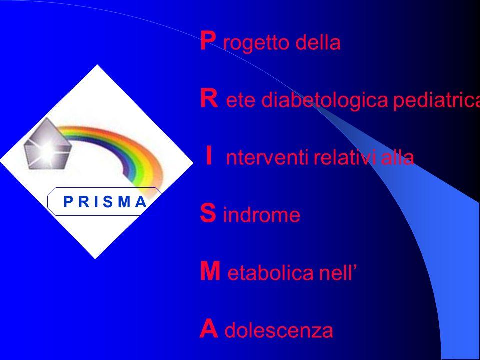 P rogetto della R ete diabetologica pediatrica campana sugli I nterventi relativi alla S indrome M etabolica nell A dolescenza P R I S M A