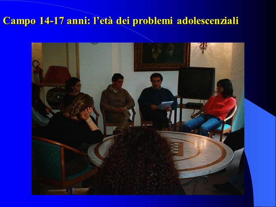 Campo 14-17 anni: letà dei problemi adolescenziali