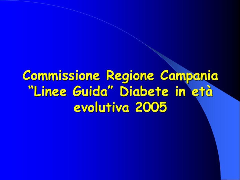 Commissione Regione Campania Linee Guida Diabete in età evolutiva 2005