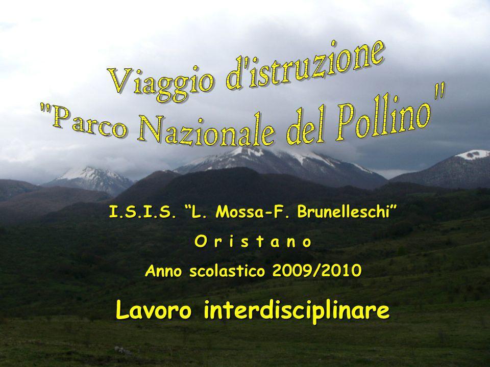 Il progetto Parco del Pollino, parzialmente finanziato dalla Regione Sardegna - legge 9 del 15 feb.