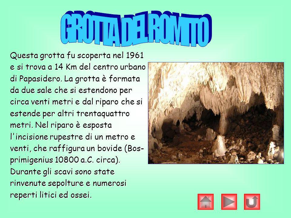 Questa grotta fu scoperta nel 1961 e si trova a 14 Km del centro urbano di Papasidero. La grotta è formata da due sale che si estendono per circa vent