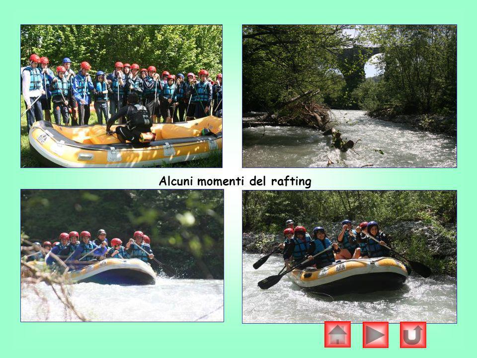 Alcuni momenti del rafting