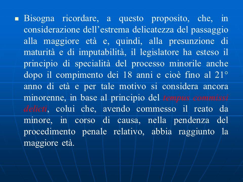 MINORE DELINQUENTE = ALLATTO DEL REATO E ANCORA MINORENNE (Mastronardi V., Villanova M., 2003) Prima dei 14 anni (art.