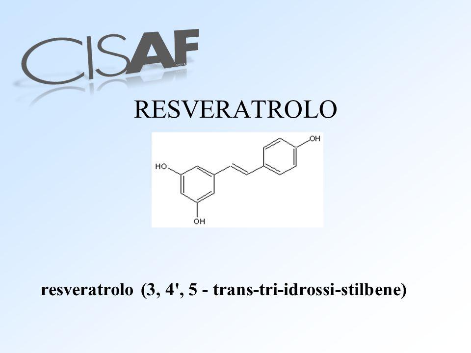 RESVERATROLO resveratrolo (3, 4', 5 - trans-tri-idrossi-stilbene)