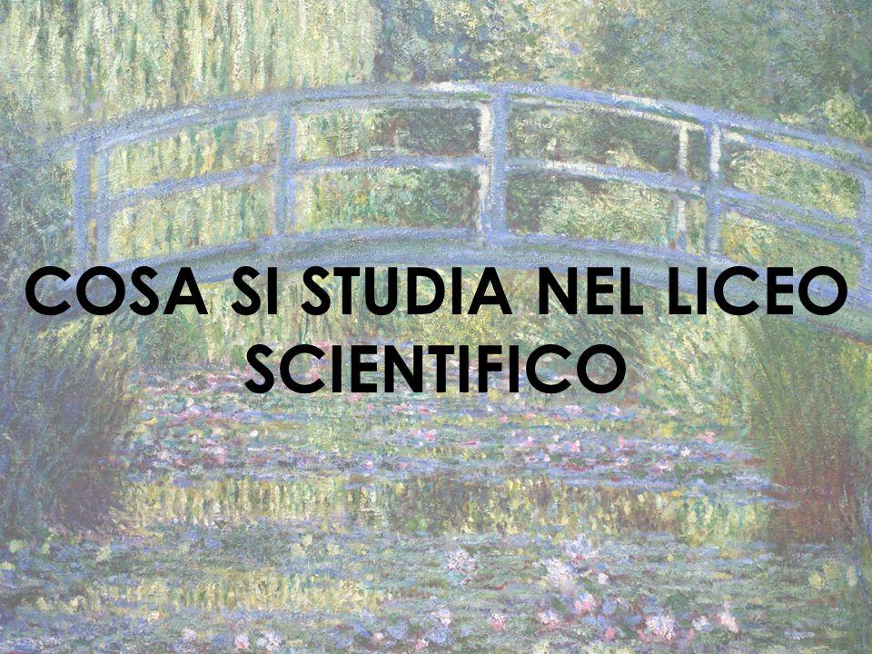 COSA SI STUDIA NEL LICEO SCIENTIFICO