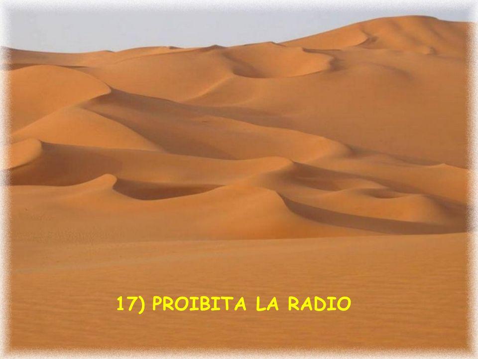 16) PROIBITA LA MUSICA STRANIERA