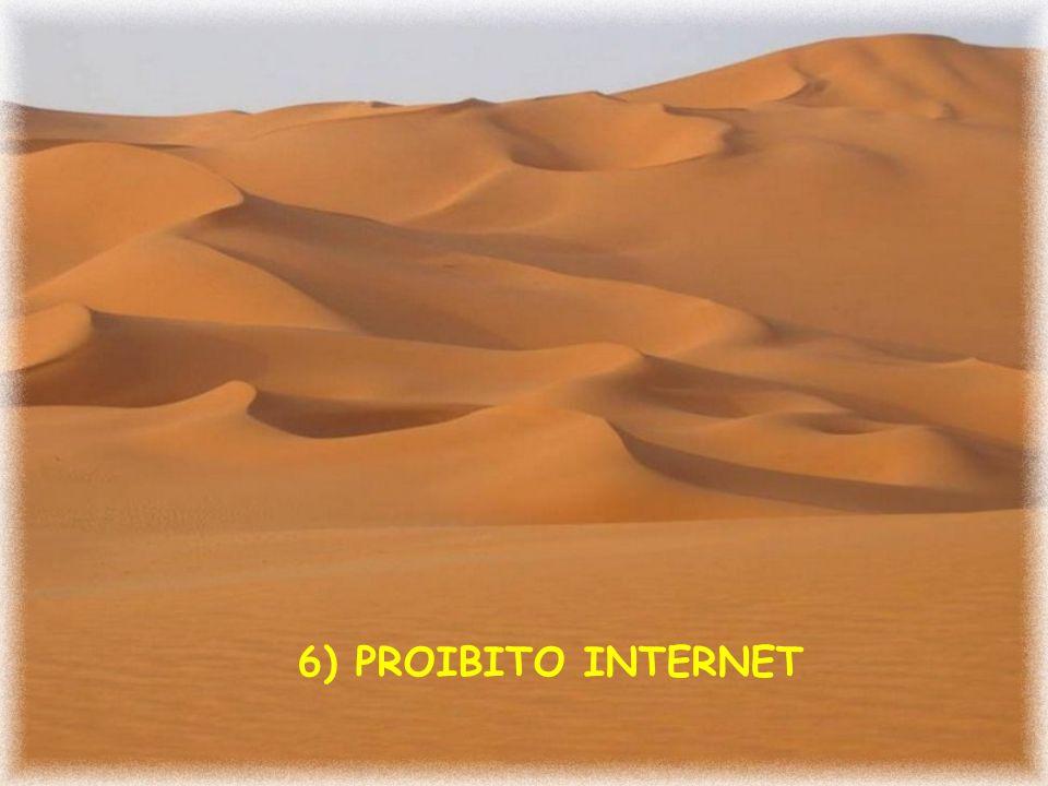 6) PROIBITO INTERNET