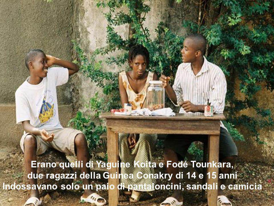 Erano quelli di Yaguine Koita e Fodé Tounkara, due ragazzi della Guinea Conakry di 14 e 15 anni Indossavano solo un paio di pantaloncini, sandali e ca