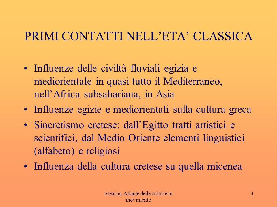 Stearns, Atlante delle culture in movimento 5 Incontro ellenismo e India Regni ellenistici nascono dalla disgregazione impero di Alessandro e durano c.a due secoli.