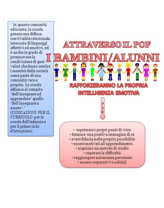 In quanto comunità educante, la scuola genera una diffusa convivialità relazionale, intessuta di linguaggi affettivi ed emotivi, ed è anche in grado d